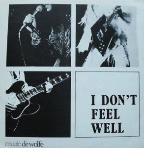 Pochette de l'album I Don't Feel Well.