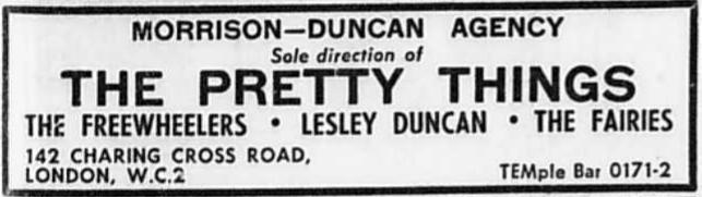 Encart publicitaire pour la Morrison-Duncan Agency.
