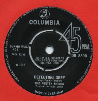 Matrice du 45 tours Defecting Grey / Mr. Evasion.