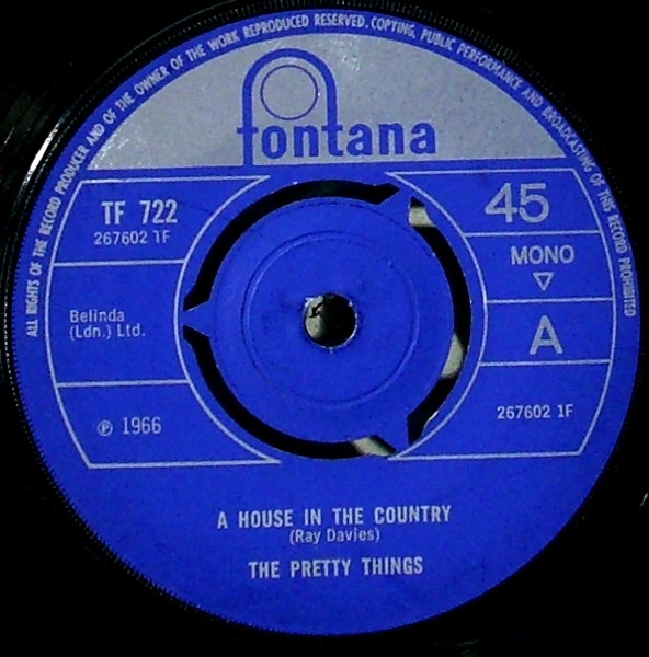 Matrice du 45 tours A House in the Country / Me Needing You.