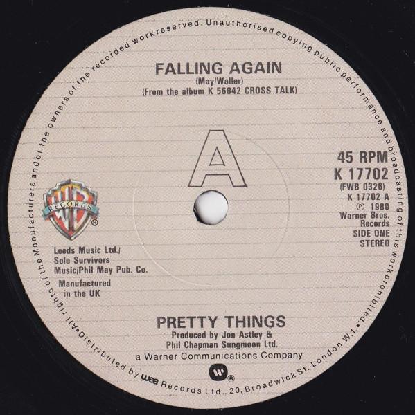 Matrice du 45 tours Falling Again / She Don't.