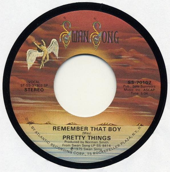 Matrice du 45 tours It Isn't Rock 'n' Roll / Remember That Boy.
