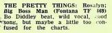 Critique du single parue dans le magazine Record Mirror.