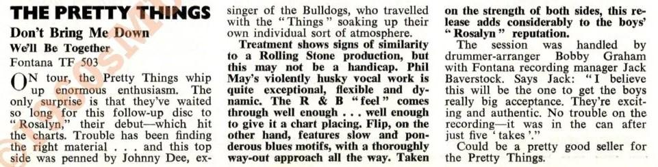 Critique du single parue dans le magazine Beat Instrumental.